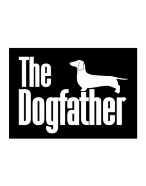 The dogfather Dachshund Sticker