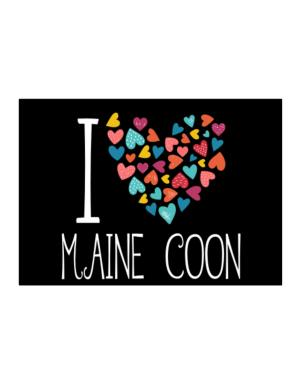 I love Maine Coon colorful hearts Sticker