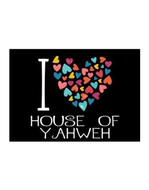 I love House Of Yahweh colorful hearts Sticker
