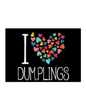 I love Dumplings colorful hearts Sticker