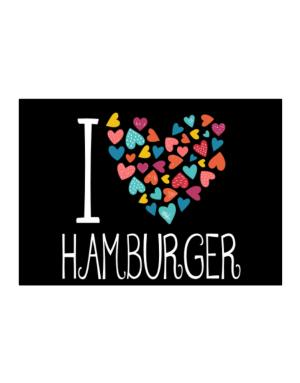 I love Hamburger colorful hearts Sticker