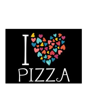 I love Pizza colorful hearts Sticker