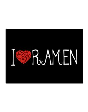 I love Ramen cool style Sticker