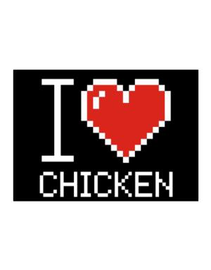 I love Chicken pixelated Sticker
