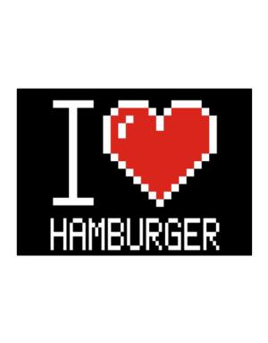 I love Hamburger pixelated Sticker