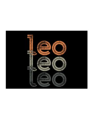 Leo repeat retro Sticker