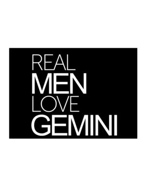 Real men love Gemini Sticker