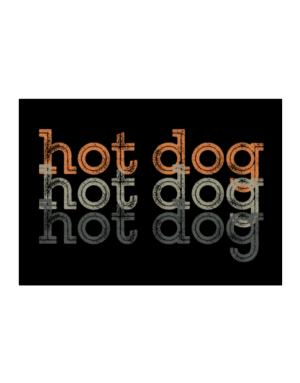 Hot Dog repeat retro Sticker