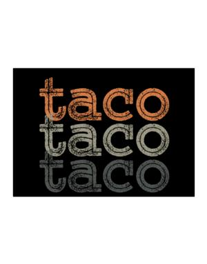 Taco repeat retro Sticker