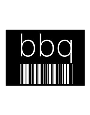 BBQ barcode Sticker