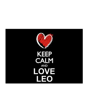 Keep calm and love Leo chalk style Sticker