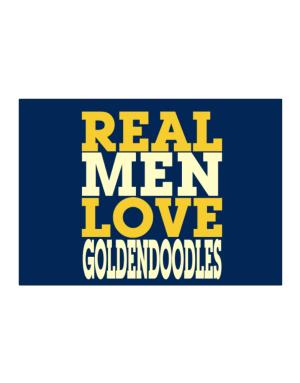 Real Men Love Goldendoodles Sticker