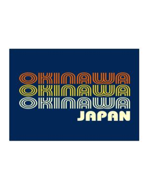 Retro Color Okinawa Sticker