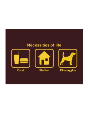 Necessities Of Life Sticker