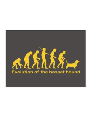 Evolution Of The Basset Hound Sticker