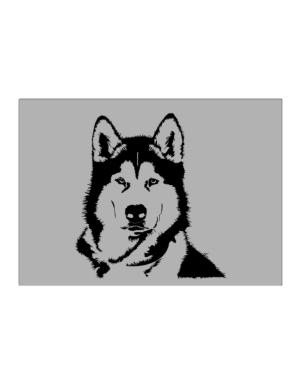 Alaskan Malamute Face Special Graphic Sticker