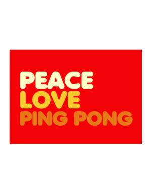 Peace Love Ping Pong Sticker