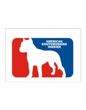 American Staffordshire Terrier Sports Logo Sticker