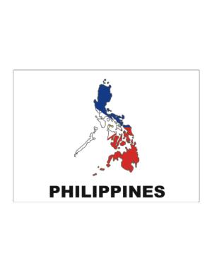 Philippines - Country Map Color Sticker