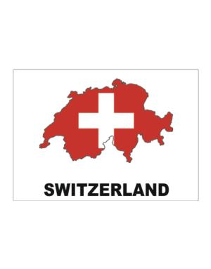 Switzerland - Country Map Color Sticker