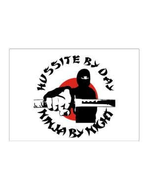 Hussite By Day, Ninja By Night Sticker