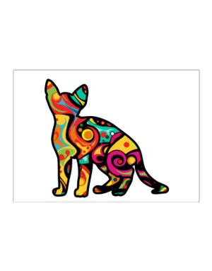 Psychedelic Devon Rex Sticker