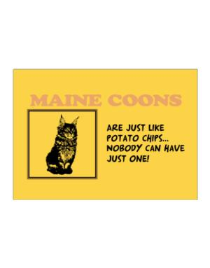 Maine Coons are just like potato chips Sticker