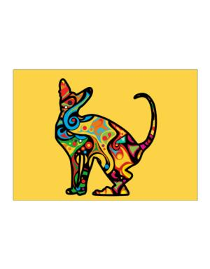 Psychedelic Peterbald Sticker