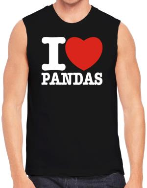 I Love Pandas Sleeveless
