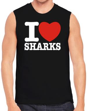 I Love Sharks Sleeveless