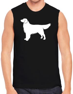 Golden Retriever Silhouette Embroidery Sleeveless