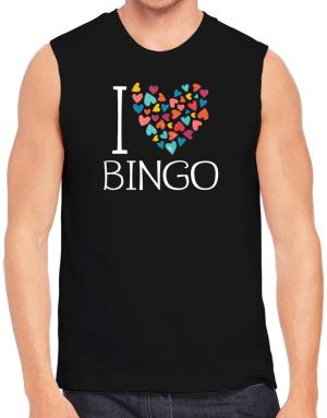 Polo Sin Mangas de I love Bingo colorful hearts