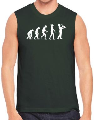 Saxophone Player Evolution Sleeveless