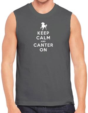 Keep calm and canter on Sleeveless