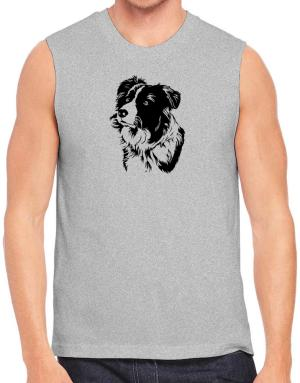 Border Collie Face Special Graphic Sleeveless
