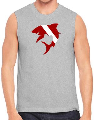 Diver down Shark Scuba Diving Sleeveless
