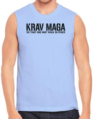 Polo Sin Mangas de Krav Maga Walk in peace