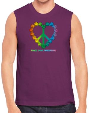 Volleyball Peace Sign Sleeveless