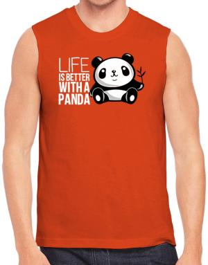 Polo Sin Mangas de Life is better with a panda