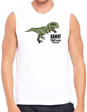Polo Sin Mangas de Rawr means I Love You in dinosaur