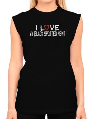 I Love My Black Spotted Newt T-Shirt - Sleeveless-Womens
