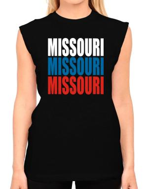 Triple Color Missouri T-Shirt - Sleeveless-Womens