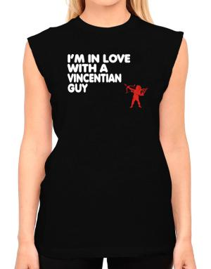 I Am In Love With A Vincentian Guy T-Shirt - Sleeveless-Womens