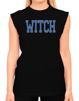 Witch - Simple Athletic T-Shirt - Sleeveless-Womens
