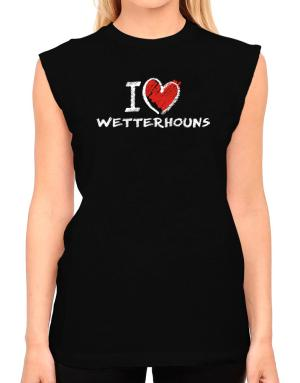 I love Wetterhouns chalk style T-Shirt - Sleeveless-Womens
