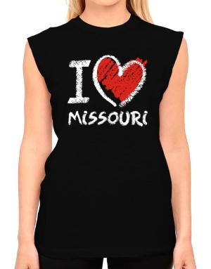 I love Missouri chalk style T-Shirt - Sleeveless-Womens