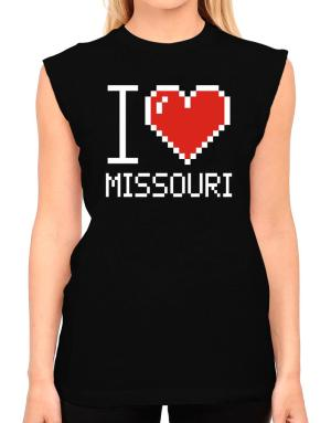 I love Missouri pixelated T-Shirt - Sleeveless-Womens