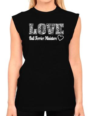 Love Bull Terrier Miniature T-Shirt - Sleeveless-Womens