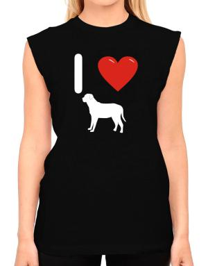 I love Broholmer Silhouette T-Shirt - Sleeveless-Womens