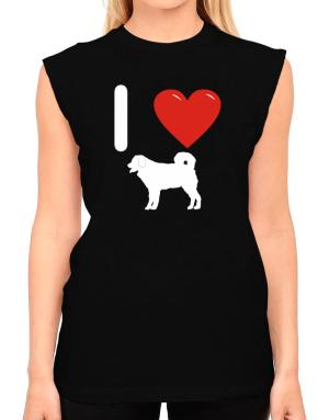 I love Wetterhoun Silhouette T-Shirt - Sleeveless-Womens